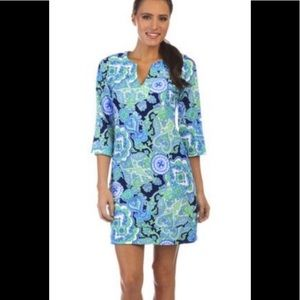 Jude Connally Megan Captive Paisley Navy Dress Med